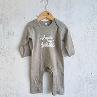 Pyjama grijs Slapen=Saai / Raaf10