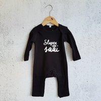 Pyjama zwart Slapen=Saai / Raaf10