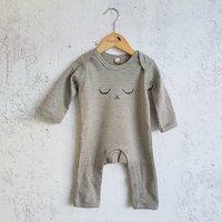 Pyjama grijs Oogjes toe / Raaf10