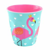 So Pretty Flamingo melamine beker (medium) / Ginger