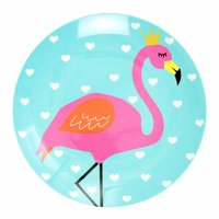 So Pretty Flamingo melamine bord / Ginger