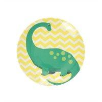 Happy Dinosaurs melamine bord (mini) Yellow / Ginger