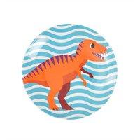 Happy Dinosaurs melamine bord (mini) Blue / Ginger