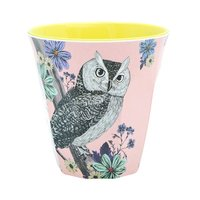 Forest Dreams melamine beker (medium) Uil / Ginger