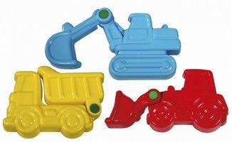 Beweegbare zandvormen bouwvoertuigen (3 stuks) / Kuenen