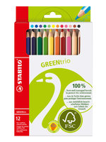 12 potloden green / Stabilo