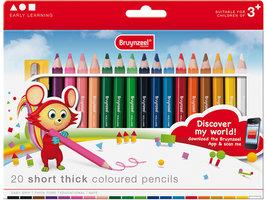 20 Short thick coloured pencils potloden / Bruynzeel