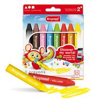 8 crayons waskrijtjes / Bruynzeel