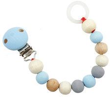 Houten Speenketting (naturel/blauw) / Hess