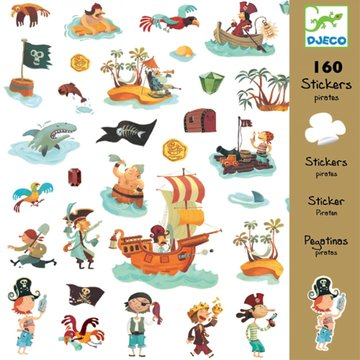 160 stickers piraten / Djeco