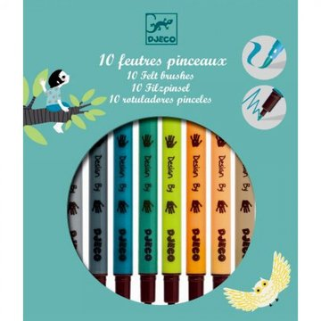 10 Dubbele viltstiften Natuurkleuren / Djeco