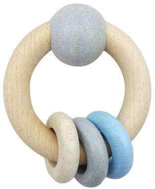 Houten Rammelaar Bol 3 ringen / Hess