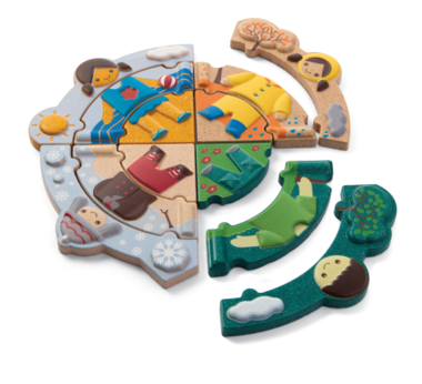 Houten Weather Dress-up puzzel / PlanToys