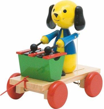 Houten trekhond met xylofoon / Woody