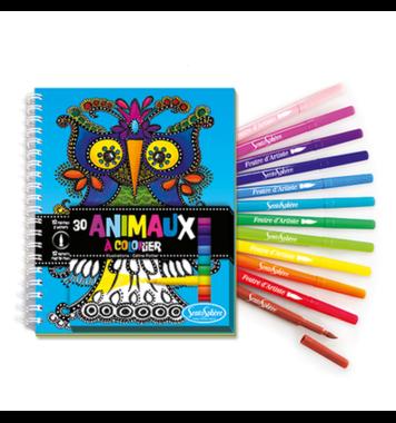 Dieren kleurboek met Viltstiften