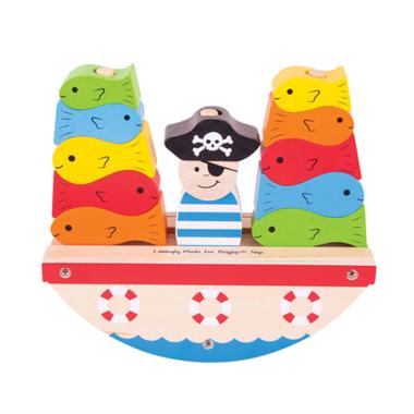 Stapelspel Piratenboot / BigJigs