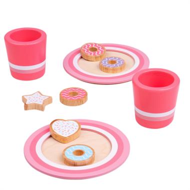Houten melk en koekjes set / BigJigs