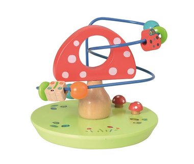 Houten kralenframe paddenstoel / Egmont Toys