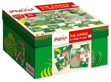 Dubbelzijdige puzzel Jungle 2+ / Ludattica