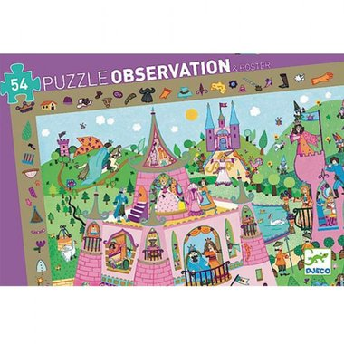 Observatie puzzel Prinsessen (54st.) / Djeco