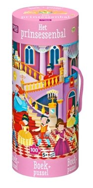 Prinsessenbal puzzel met boekje (100 st) / Sassi Junior