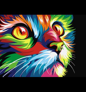 Schilderen op nummer Regenboog Kat A4 / Artventura