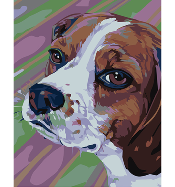 Schilderen op nummer Beagle / Artventura