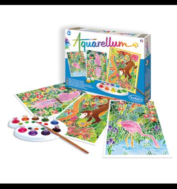 Schilderset aquarelverf Tropische Dieren / Aquarellum