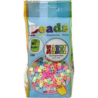 Strijkkralen, medium, pastelkleuren / Nabbi