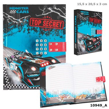 Dagboek Monster Cars met geheime code / Monster Cars