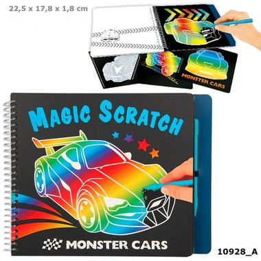 Magic Scratch boek / Monster Cars