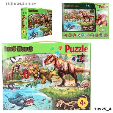 Puzzel, 50 stukjes / Dino World