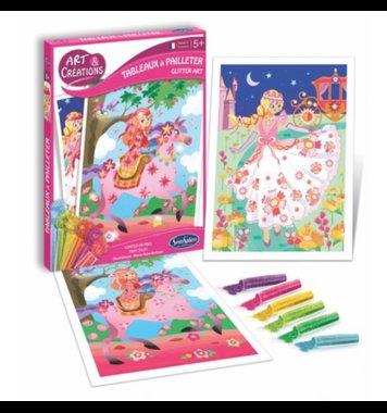 Glitter schilderijen Sprookjes prinsessen