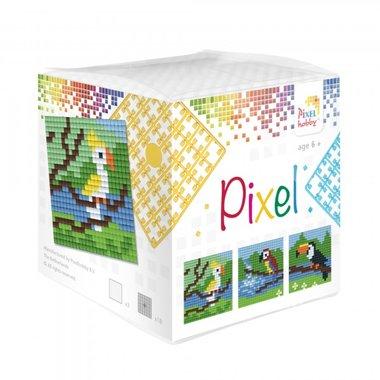 Pixel kubus set Tropische vogels/ Pixelhobby
