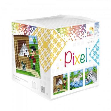 Pixel kubus set Paarden/ Pixelhobby