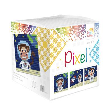 Pixel kubus set in de Ruimte/ Pixelhobby
