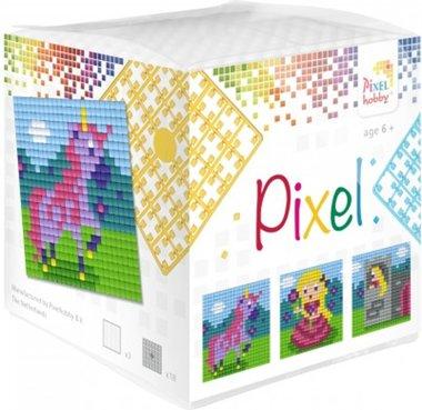 Pixel kubus set Eenhoorn/ Pixelhobby