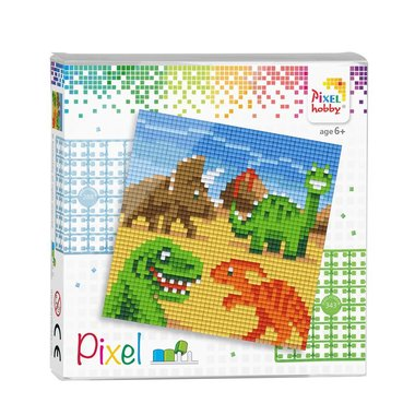 Pixel set Dino's/ Pixelhobby