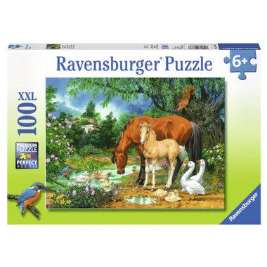 Idylle bij de vijver puzzel (100 st) / Ravensburger