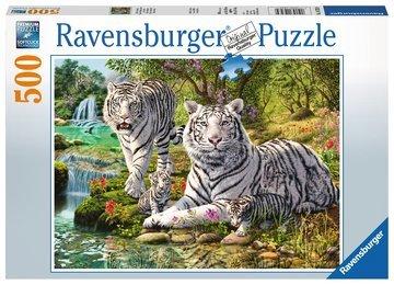 Witte roofkatten puzzel (500 st) / Ravensburger