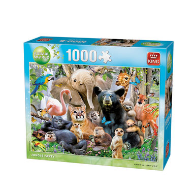 Jungle party puzzel (1000 st) / King