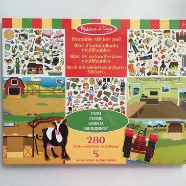 Herbruikbaar stickervel boerderij / Melissa & Doug