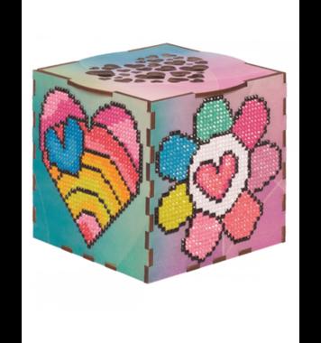 Houten doosje Roze Dromen / Wizardi Diamond Painting