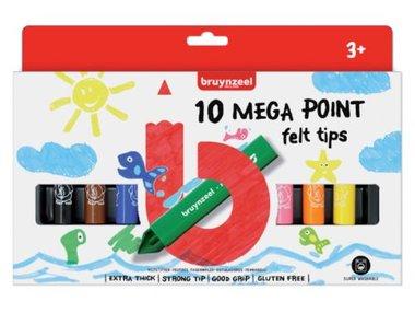 10 Megapoints korte viltstiften / Bruynzeel