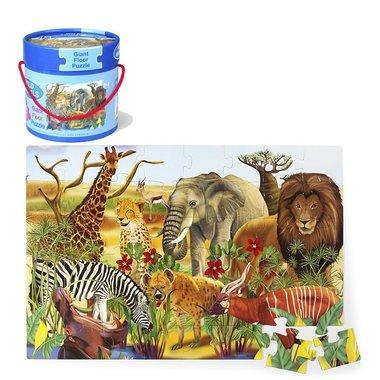 Vloerpuzzel safari (48 st) / Simply for Kids