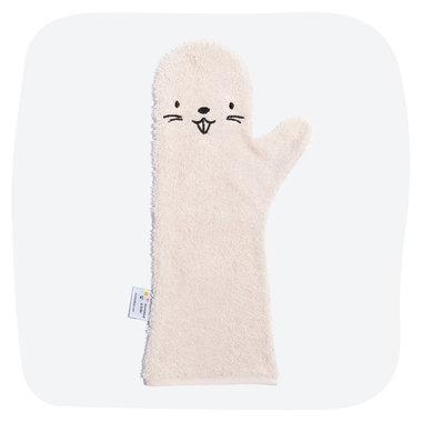 Washand Bever Beaver (roze) / Baby Shower Glove