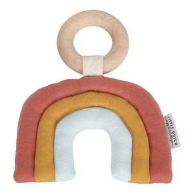Rammelaar houten ring regenboog / Little Dutch