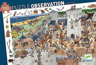 Observatie puzzel Kasteel (100st.) / Djeco