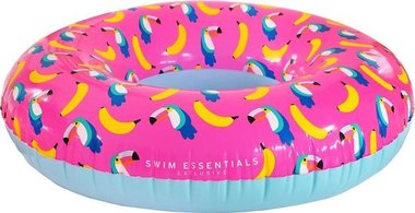 Opblaasbare Toekan Print XL Zwemband - 135 cm / Swim Essentials