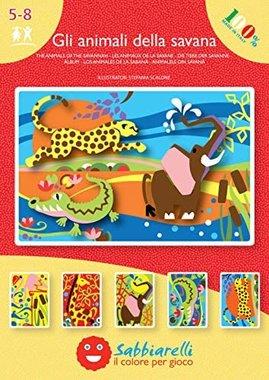 Zandkaarten Jungle dieren / Sabbiarelli